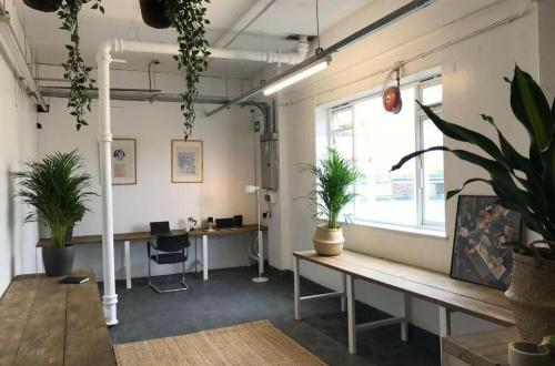 Desk space to rent in the Old Biscuit Factory in Bermondsey