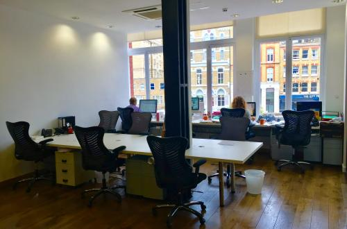 Desks available in shared creative workspace in Farringdon/Clerkenwell