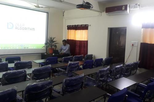 Fully Furnished Training Room with AC, Projector, Hi-Speed Wifi connectivity and 40 comfortable seats with laptop desks to run day long trainings @ Hi Tech City, Hyderabad