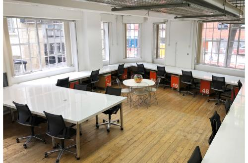 Light, open office available to share with Clerkenwell creative