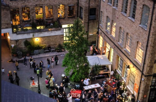 Curated Shared Work Space in  Shoreditch Courtyard